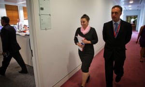 Independent senator Jacqui Lambie and barrister and poppy grower Glynn Williams, who was one of her advisors on her defection.