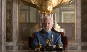 On top … Donald Sutherland in the latest Hunger Games movie.