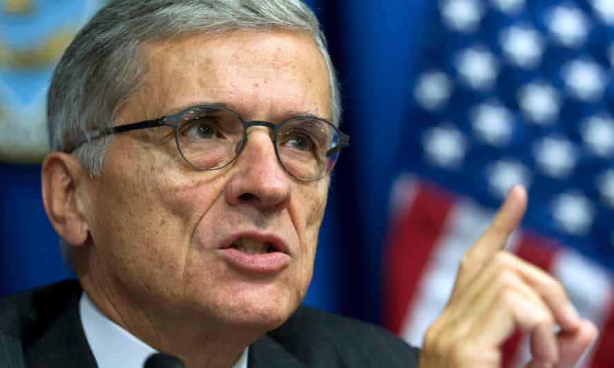Federal Communications Commission (FCC) Chairman Tom Wheeler speaks in Washington.