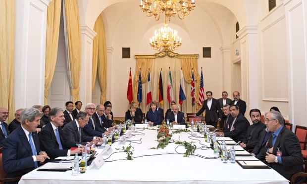 Foreign ministers and other delegates at the Iran nuclear negotiations in Vienna