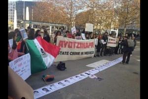 ayotzinapa protest in geneva