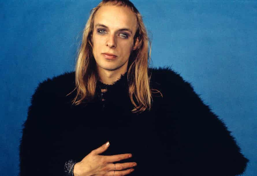 Brian Eno of Roxy Music from studio photo shoot in West London on 18 September 1972