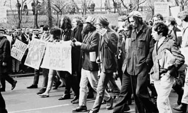 The Fugs on the march in New York in 1966 against the Vietnam war