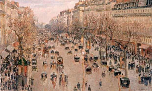 Boulevard Montmartre in Paris by Camille Pissarro