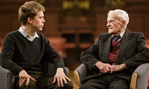 'You're a Yorkshireman – I was born in Sheffield' … Owen Jones and Harry Leslie Smith. Photograph: S
