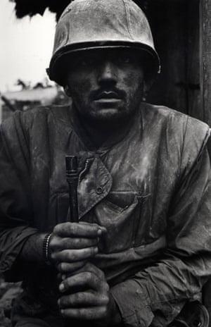 Don McCullin's Shell Shocked US Marine, Vietnam, Hue 1968