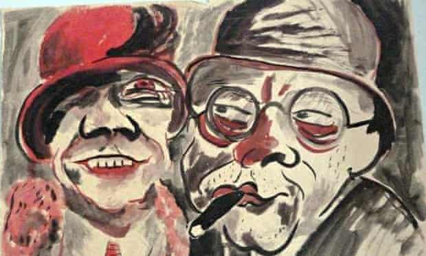 Couple, by Hans Christoph, one of some 1,400 works confiscated from Cornelius Gurlitt, whose father
