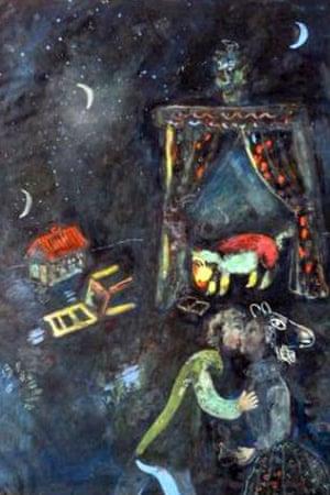 Marc Chagall's Allegorical Scene – dangerous art to the Nazis.