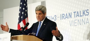 US secretary of state John Kerry after nuclear talks with Iran, in Vienna on Monday.