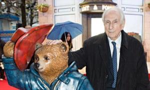 Paddington Bear creator Michael Bond attending the world premiere of Paddington at the Leicester Squ