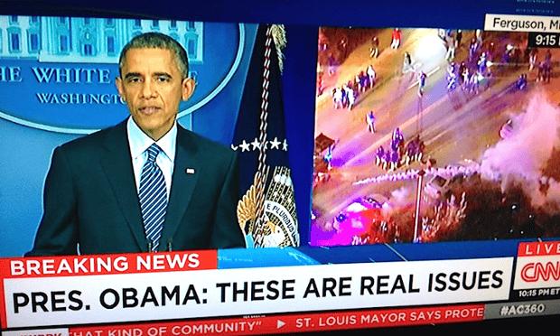 obama ferguson splitscreen