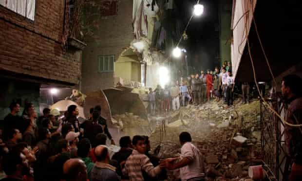 Cairo suburb of Matariya building collapse