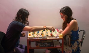 Board-gamers at Draughts cafe in east London. For a board game special feature.