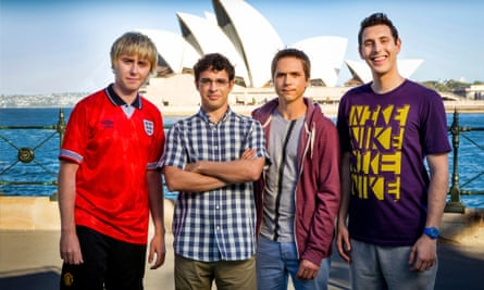 Publicity stills on the set of The Inbetweeners 2 movie 'The Long Goodbye'