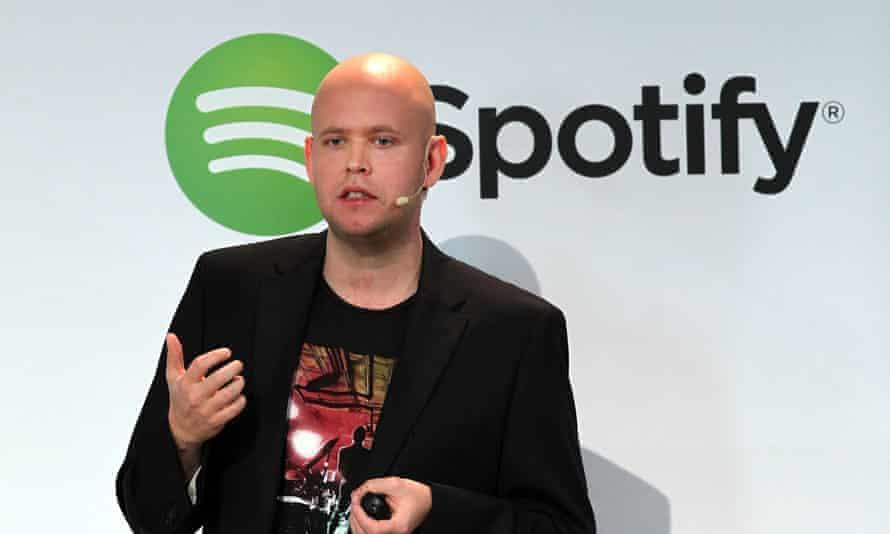 Spotify chief executive Daniel Ek.