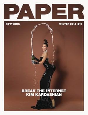 Kim Kardashion on the cover of Paper magazine