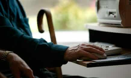 older person using the internet