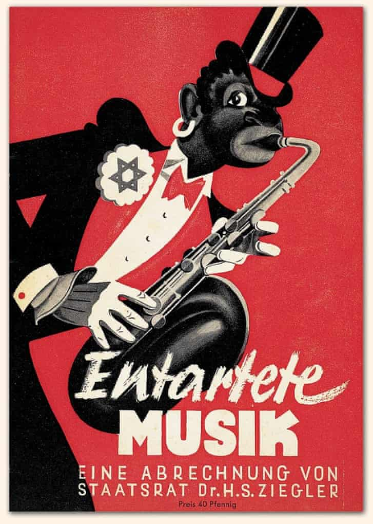 A 1938 poster for an exhibition of degenerate music ( Entartete Musik),organised by Hans Severus Ziegler in Düsseldorf, Germany