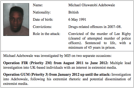 Michael Adebowale was convicted on the murder of Lee Rigby.
