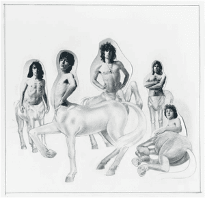 Original rough concept takes for The Rolling Stones - Goats Head Soup, 1973.