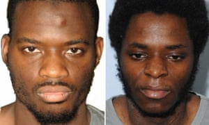 British men Michael Adebolajo (L) and Michael Adebowale (R) who were found guilty of the murder of British soldier Lee Rigby.