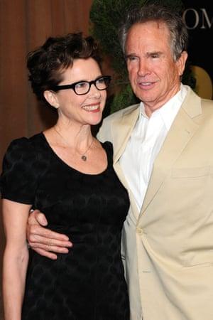 Annette Bening and her husband Warren Beatty.