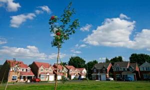 St Helens town housing estate