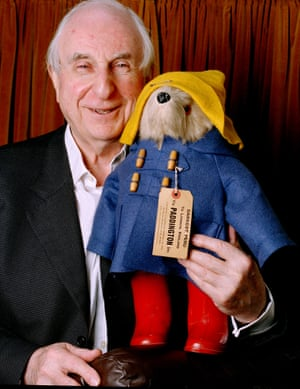 Michael Bond and Paddington Bear in 2003.