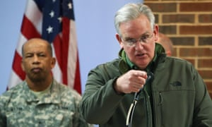 Missouri Gov. Jay Nixon speaks during a news conference at the University of Missouri - St. Louis on November 25, 2014 in St. Louis, Missouri.