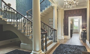 An imposing staircase at the mansion.