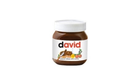 Nutella Personalised Labels, £3.99 (includes jar of Nutella)