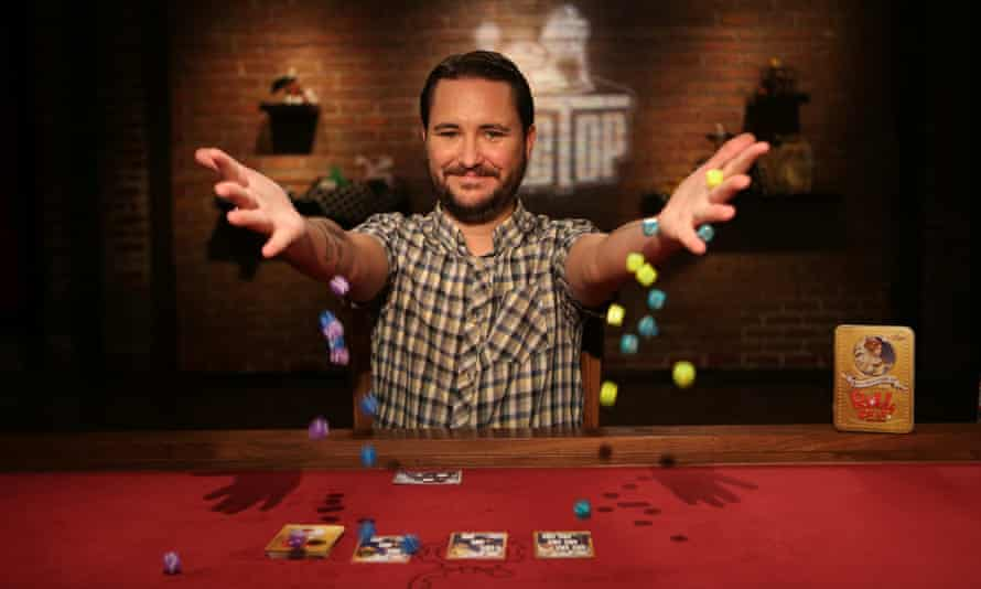 Wil Wheaton on the set of hit YouTube gaming series Tabletop