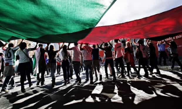 Palestine march Chile