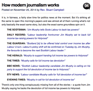 A Wings of Scotland post: challenging mainstream media coverage