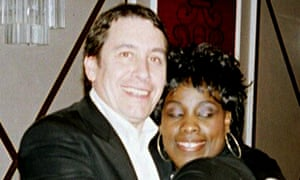 Jools Holland and Ruby Turner embrace