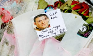 Tribute to Lee Rigby outside the Woolwich barracks.