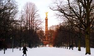 A snowy scene in Berlin