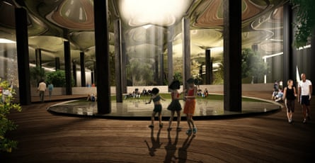 An architectural endering of the Lowline.