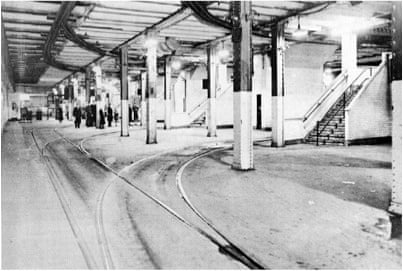 The Williamsburg Trolley Terminal was the destination for streetcars that carried passengers from Brooklyn to Manhattan over the Williamsburg bridge.