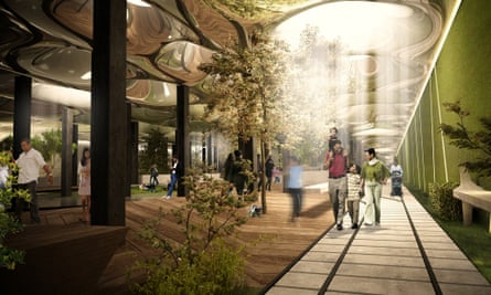 An illustration showing how the Lowline might look.