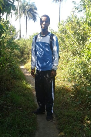 Issac, an Ebola community volunteer in Sierra Leone