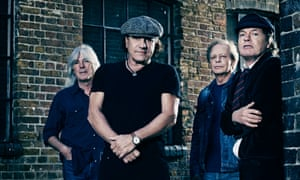 Old kids on the block: AC/DC in 2014: (left to right) Cliff Williams, Brian Johnson, Stevie Young and Angus Young.