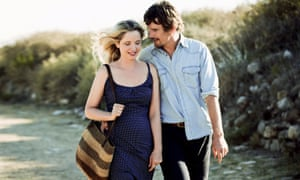 Hawke with co-star Julie Delpy in Before Midnight.