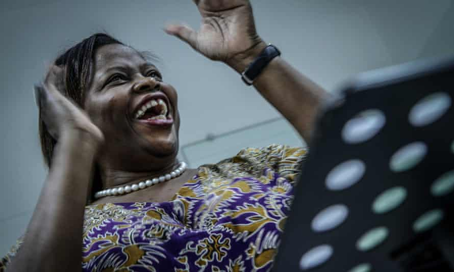 Stella Mendonça, who returned from overseas to teach Mozambicans to sing.