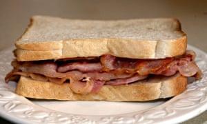 A bacon sandwich