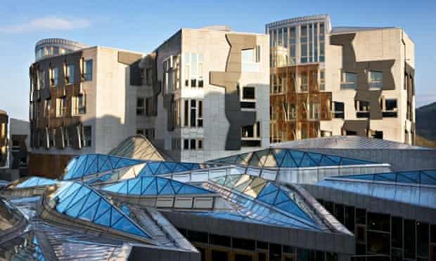 The Scottish parliament at Holyrood in Edinburgh