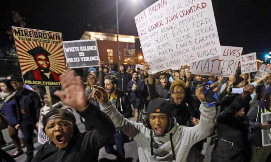 Protesters - Michael Brown