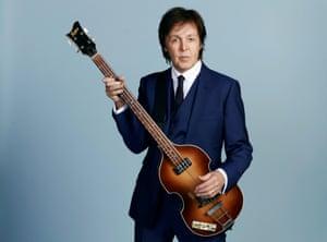 Paul McCartney with bass
