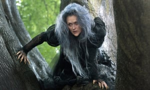 Meryl Streep in the new film adaptation of the musical Into the Woods by Stephen Sondheim