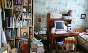 One of Marie Kondo's client's room before it was decluttered